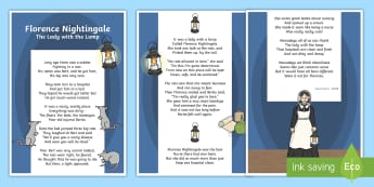 Florence Nightingale Poem Display Poster - florence nightingale, florence nightingale poem, florence nightingale poster, florence nightingale poem poster