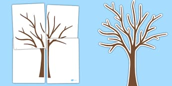 Large Tree Cut-Out - large tree, tree, outline, cut out, display