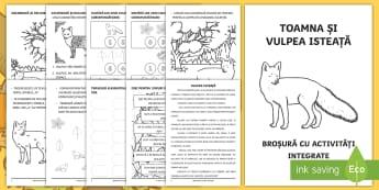Toamna și vulpea isteață Broșură cu activități integrate - broșură, activități integrate, vulpea isteață, toamna, clasa pregătitoare, animale,Romanian
