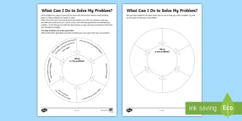 What Can I Do To Solve My Problem? Activity Sheet - transition, behaviour, stress, anxiety, change, young people, decision, responsibility