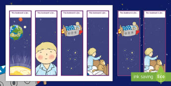 Back to Earth with a Bump Editable Bookmarks - Twinkl Originals, Fiction, book mark, reading, reward, space