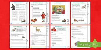 Christmas SPaG Activity Pack - SPaG, apostrophes for possession, compound and complex sentences, brackets, determiners, relative cl