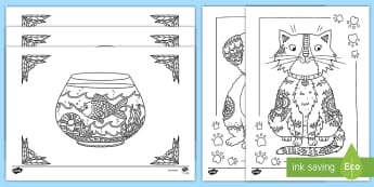 Feuilles de coloriage : les animaux - anti-stress, colorier, dessin, cycle 1, cycle 2,French-translation