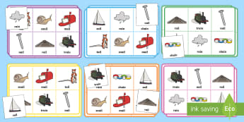 Phase 3 ai Sound Bingo - phonics, phoneme, game, activity, worksheet, letters and sounds