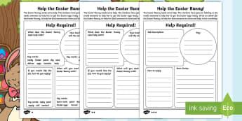 Saving Easter Writing a Job Advert Activity Sheets - Children's Books, children, book, books, story, stories, Twinkl, original, Saving Easter, save, sav