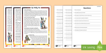 Up Helly Aa Differentiated Reading Comprehension Activity - Vikings, History,Celebration, Festival, Fire, January, Shetland,,Scottish