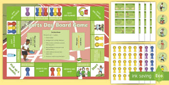 Sports Day Track Board Game - fun, playing, Take turns, Team, activity, activities, P.E., race