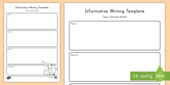 Favorite Animal Topic Writing Template - Common Core, ELA, Explanatory Text, Informative Text, Graphic Organizer