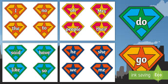 Phase 2 3 4 5 Tricky Words on Superhero Cut Out Badges - Phase 2 3 4 5 Tricky Words on Superhero Cut Out Badges - phase 3, phase 3 sounds, phase 3 phonemes,