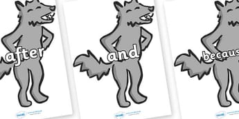 Connectives on Wolf - Connectives, VCOP, connective resources, connectives display words, connective displays