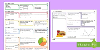 Half Term 2 Highest Ability Maths Activity Mats - order, bidmas, proportion, converting, conversion, pie charts, venn diagram, fractions, construction