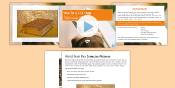 World Book Day Writing Stimulus Picture PowerPoint - event, creative writing, story, prompt, describe, narrative, genre