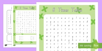 Multiplication 8 Times Tables Word Search Activity Sheet - New Zealand, maths, multiplication, times tables, 8 times tables, Year 3, age 7, age 8, age 9, times