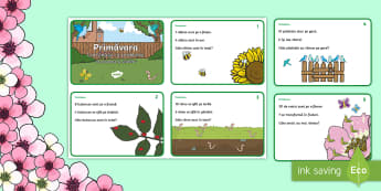 KS1 Spring Maths Challenge Cards English/Romanian - NI, Spring, addition, subtraction, bird, worm, egg, maths, adding, taking away, bees, flowers, chick