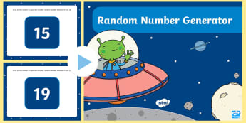 Random Number Generator 0-20 PowerPoint  - maths, interactive, starter activities, number, addition, subtraction, number problems.