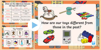 Toys Then and Now PowerPoint - toy, toys then and now, powerpoint, information powerpoint, history, discussion prompt, class discussion, discussion starter
