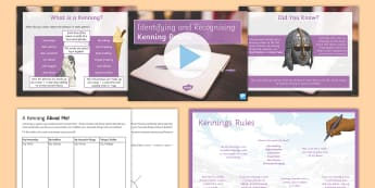 Recognising Kenning Poems Lesson Pack - Recognise Different Forms of Poetry Kennings Lesson Teaching Pack, teeach, poerty, petry, poety, peo