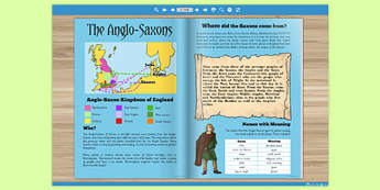 The Anglo Saxons History eBook - saxons, books, read, visual aid