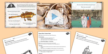 Roman Music Lesson Teaching Pack - romans, music, history, pack