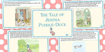 The Tale of Jemima Puddle-Duck Story - jemima puddle-duck, tale, story