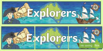 Explorers Banner - History, year 4, humanities and social studies, explore, australia, australian