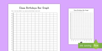 Class Birthdays Bar Graph Display Poster - bar graph, graph,, birthdays, poster, display