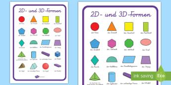 Geometrische Figuren Körper Primary Resources - Raum