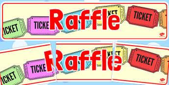 Raffle Banner - raffle, banner, summer, fair, fayre, prize, win