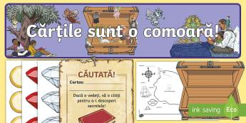 Comoara lecturii Pachet cu activități - comoara, lecturii, lectura, carte, citit, pachet, activități, comoara