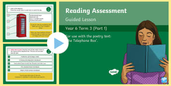 Year 6 Reading Assessment Non Fiction Term 3 Guided Lesson PowerPoint - Reading Assessment PowerPoints, telephone box, phonebox, reading test, sats, practise, comprehension