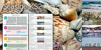 Imagine Seaside KS2 Resource Pack - seashells, waves, rockpool, harbour, deckchairs, Science, Habitats, English, The Odyssey, Myths and