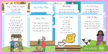 Nursery Songs and Rhymes Resource Pack  - NZ Literacy Resources, nursery rhymes, Years 1-3, New Zealand, Aotearoa, Te Reo, Maori, poems, Engli