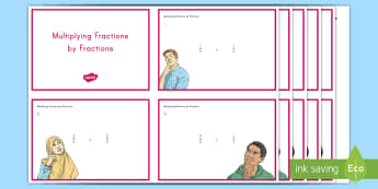 Multiplying Fractions by Fractions Task Cards - fractions, multiplication, problem solving, mixed numbers, improper fractions