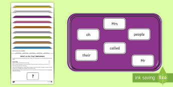What's on the Tray? Phase 3 Tricky Words Memory Activity Pack - speech language games, EAL games, eal, esl, esl games, memory game, memory games for kids, auditory
