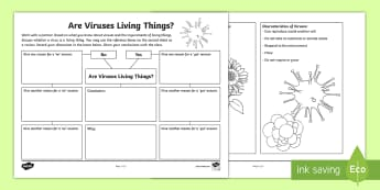 Characteristics of Living Things Life Science Teaching Resources