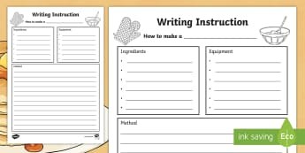 Instructions - KS1 Writing Primary Resources