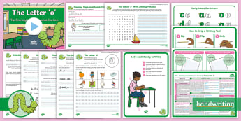 The Journey to Continuous Cursive: The Letter 'o' (Curly Caterpillar Family Help Card 9) KS1 Activity Pack - handwriting, Nelson handwriting, penpals, fluent, joined, legible, letterjoin,