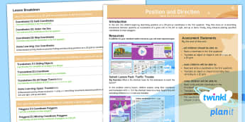 PlanIt Maths Y4 Position and Direction Overview