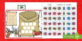Juego: Contar los regalos de Navidad - contar, cuenta, números, navidad, navideño, regalos - contar, cuenta, números, navidad, navideño, regalos
