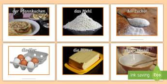 Baking Display Photos -  German - Pancake Day, German, Baking, Backen, Pfannkuchen