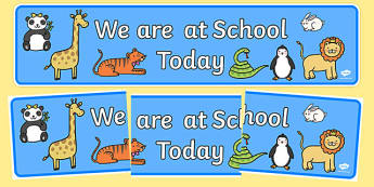 Self-Registration Banner (Animals) - animals, self-registration,animal registration, Banner, Classroom labels, Area labels, Area Signs, Classroom Areas, Poster, Display, tiger, lion, dog, cat