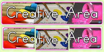 Creative Area Photo Display Banner (Australia) - banners, photos