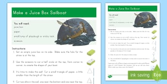 Make a Juice Box Sailboat Craft Instructions  - Miracles of Jesus, Bible, Christian, New Testament, Storm, Faith, Story, Craft, Boat, Sailboat