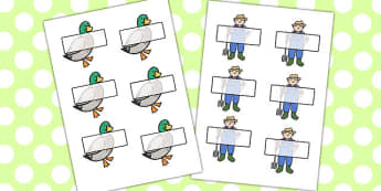 Farmer And Duck Editable Self Registration - farmer duck, editable, self registration, self reg, daily routine, pupil registration, themed self registration