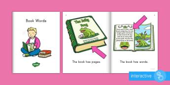 Book Words Emergent Reader eBook - emergent reader, emergent readers, emergent reading books, emergent reading texts, sight word reader