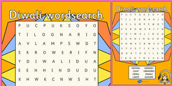 Diwali Wordsearch - diwali, wordsearch, word search, word game, word activities, key words, word, themed wordsearch, wet play, themed games, themed activity