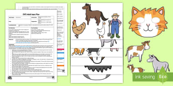 EYFS Comparing the Number of Farm Animals Adult Input Plan and Resource Pack - Mathematics, Numbers, Counting, Compare, More, Less, Fewer, Same, Amount, Farm, Animals, Early Years