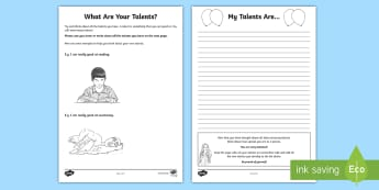 What Are Your Talents? KS2 Activity Sheets - self-esteem, self-knowledge, confidence, Friendship, peer pressure, relationships, feelings, young p