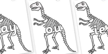 Phase 5 Phonemes on Dinosaur Skeletons - Phonemes, phoneme, Phase 5, Phase five, Foundation, Literacy, Letters and Sounds, DfES, display