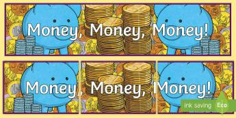 Money, Money, Money Display Banner - money, measures, display area, display banner,Irish